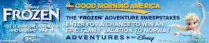 ABC – Good Morning America – Win A Trip To Norway by Disney Frozen Contest