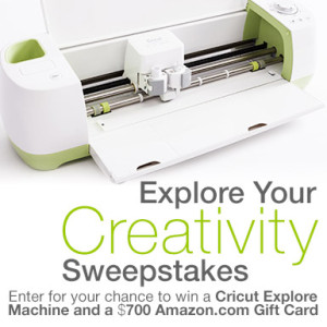 Amazon – Win Cricut Explore Machine and $700 gift card giveaway