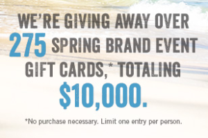 Buckle – Win Spring Brand Event Gift Cards, Totaling $10,000 Giveaway
