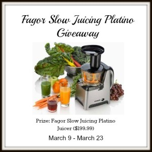 Budget Earth – Win A Fagor Slow Platino Juicer Giveaways