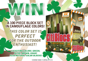 Citiblocs – Win A 100 Piece Camouflage Colors Block set giveaway