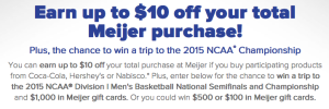 Coca Cola Win A Trip To Indianapolis, IN 2015 and $1,000 Meijer Gift Cards Giveaway