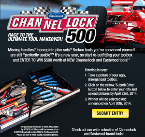 Eastwood Tools – Win $500 Channellock and Eastwood Credit Giveaway