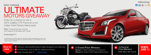 Ebay – Win A 2014 Cadillac CTS Premium or an Indian Chief Classic Mororcycle