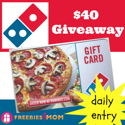Win Domino's Pizza Gift Card Giveaway