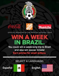 Coca-Cola – Win a trip to Recife Brazil 2014