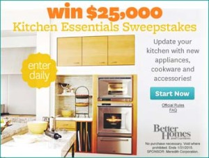Better Homes and Gardens – Win $25,000 Kitchen Update – Daily Enter Sweepstakes