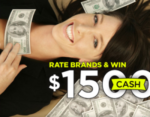 Brand Satisfaction – Win 1,500 cash ,  a Retina Macbook Pro  and a lot of prizes in this month .