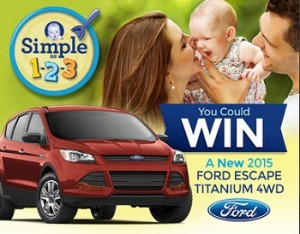Gerber Cereals – Win a 2015 Ford Escape Titanium 4WD valued at $35,000 and $15,000 check this February, 2015