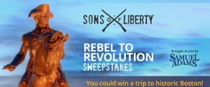 History Sons of Liberty Rebel – Win a trip for 2 to Boston and a swag pack for weekly prizes