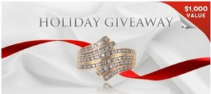 HolstedJewelers – Win a 14K yellow 25 carat genuine diamond ring valued at $1,000  this January .