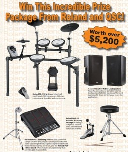 Modern Drummer – Win an Incredible Prize Package From Roland and QSC valued at $5,200.