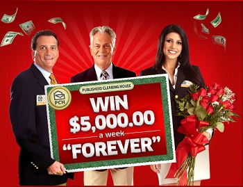 "Publishers Clearing House – Win $5,000 00 a Week ""Forever&"
