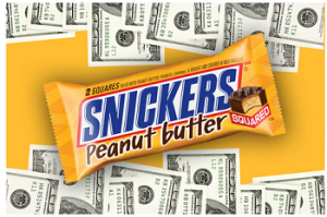 Ryan Seacrest – Win $5000 to share with a friend A Snickers Peanut by January 25, 2015.