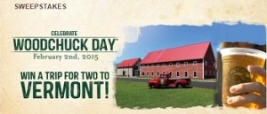 "Woodchuck – WIN a trip for 2 to Middlebury, Vermont for a ""Summer Event Hard Cider Celebrate"" valued at  $1,850"