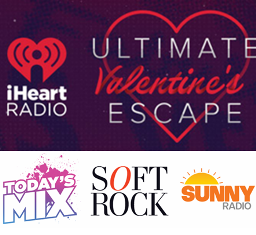 iHeartRadio – Win a trip for 2 to attend the 2015  iHeartRadio Ultimate Valentine's Escape  plus $16,600 and 50 finalist prizes !