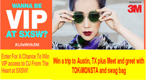 3M.mvt – Win a trip to Austin, TX to attend the 2015 3M Music Experience Pop-Up show at the 2015 SXSW music festival between March 14-16, 2015!
