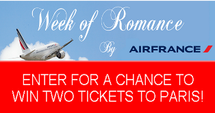 Air France USA – Win a pair of roundtrip economy tickets on Air France from any Air France US gateway to Paris, France – TODAY