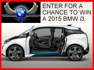 BMW – Win a three-year prepaid lease of a 2015 BMW i3 and more prizes valued at $35,500 by Feb 9, 2015