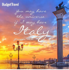 Budget Travel  – Win an 11-day trip for 2 to Italy by February 15, 2015 !