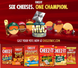 Cheeze IT – Win $10,000 check or $500 EVERY WEEK  by casting the vote for the MVC or playing the game !