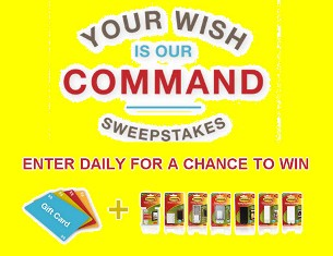 Command – Win a $250 Visa Gift Card and a 3M Command gift pack ! Enter DAILY