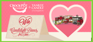 Crock-Pot – Win a Candlelight Dinner for Two and more prizes on Valentine's day 2015 !