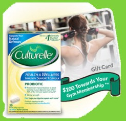 Culturelle – Win a $100 prepaid gift card, a juicer ,a fitness tracker and one Health and Wellness product – WEEKLY  !