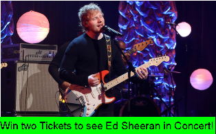 Ellen TV – Win two Tickets to see Ed Sheeran in Concert!