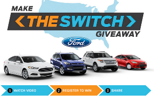 FORD – Win  $30,000 voucher to purchase one of the following vehicles: 2015 Ford Fusion, 2015 Ford Escape, 2015 Ford Focus, 2015 Ford Explorer !