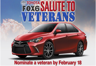FOX 6 and Toyota  – Win 2015 Toyota Camry 4-Door XSE Sedan valued at $32,170 by Feb 18, 2015 !