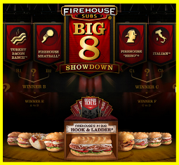 Firehouse Subs Big 8 – Win a pair of season tickets for the  U.S.  sports team of the winner's choice valued at $10,000 on March 29, 2015!