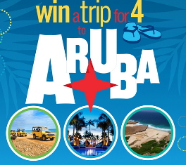 Flipflop Wines- Win a 7-day trip for 4 to the island of Aruba in the Caribbean valued at $6,676 by April 30,2015