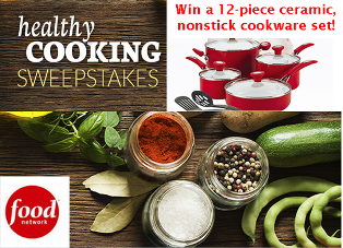 Food Network – Win a SilverStone Ceramic CXi Nonstick 12-Piece Cookware Set, Chili Red on Feb 27, 2015!