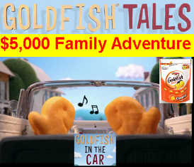 Gold Fish Crackers – Win the $5,000 toward an awesome U.S. trip of your choice or a free case of Pepperigde Farm Crackers by July 2015