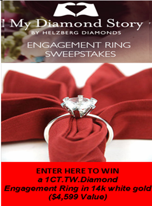 Helzberg  Diamonds – Win a 14 KT white gold 1 Carat TW engagement ring valued at $4,599 on April 5, 2015!