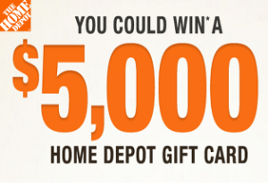 "Home Depot – Win $5,000 Home Depot gift card from ""Mobile Alert Sweepstakes"" on March 1, 2015!"