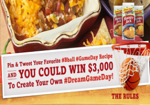 Hungry Jack  – Win prize package consisting of a $3,000 pre-paid gift card and one hundred  4.2oz cartons of Hungry Jack Hashbrowns valued at on March 12. 2015!