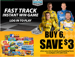 Kroger – Win a 4-day trip for 2 to watch the Stock-car Races on October 5, 2015  in Charlotte and more INSTANT Win Game with great prizes!