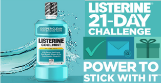 Listerine – Win $5,000 check and a tons of prizes for INSTANT win game DAILY !