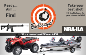 National Rifle Association of America – Win a 25- gun  grand prize or a Tracker Pro 160 Boat, Honda Four Trax Rancher ATV and more GREAT prizes !