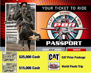 PBR – Professional Bull Roders – Win from $1,500 up to $25,000 in cash, plus a 7-day trip to the 2015 World Finals and more GREAT prizes ! DAILY