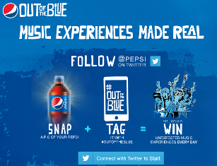 PEPSI – Win 20 tickets to a concert and Daily Prize Trip from ' Ou