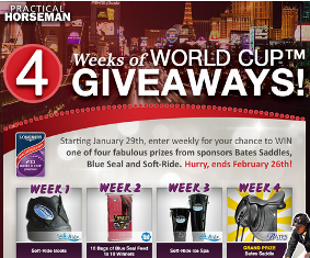 Practical Horse Man – Win a Bates Saddle from Bates Saddles valued at $3,500  from  2015 World Cup WEEKLY Sweeps !