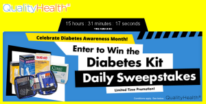 Quality Health – Win a Diabetes Tool Kit  valued at $35 – Limited time – DAILY