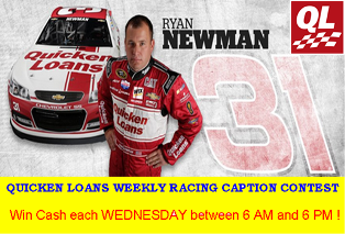 Quicken Loans Racing 2015 – Win one Prize Winner for each weekly Broadcast within $1 to $375 each WEDNESDAY between 6 AM and 6 PM!