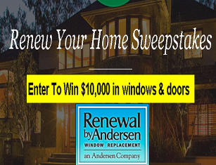Renewal by Andersen – Win $10,000 Gift Certificate in windows & doors and more WEEKLY Prizes by January 10, 2016!