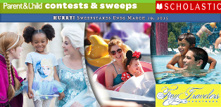 Scholastic – Win a 5-day Walt Disney World®vacation for 4 PLUS the first 2,500 to enter get a FREE Scholastic Book on March 19, 2015 ! HURRY