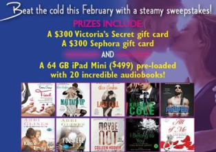 Simon & Schuster Audio – Win a $300 gift card to Victoria's Secret , $300 Sephora gift card and 64 GB iPad Mini pre-loaded with hottest audiobooks !