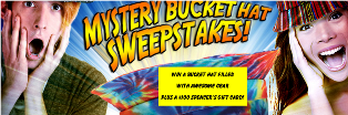 Spencer's – Win 1-of-5 Mystery Bucket Hats filled with awesome gear and a $100 Gift Card – Enter DAILY until March 1, 2015 !